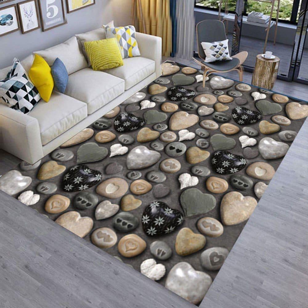 Floor Mat 3d Stone Printing Home Living Room Mat Living Room