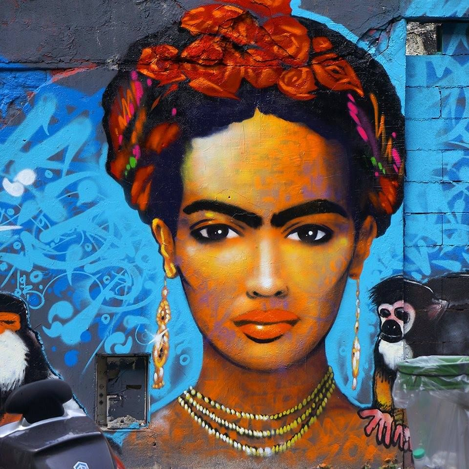 Frida Kahlo by #Marko93....Ourcq Living Colors 3, Paris 2014.