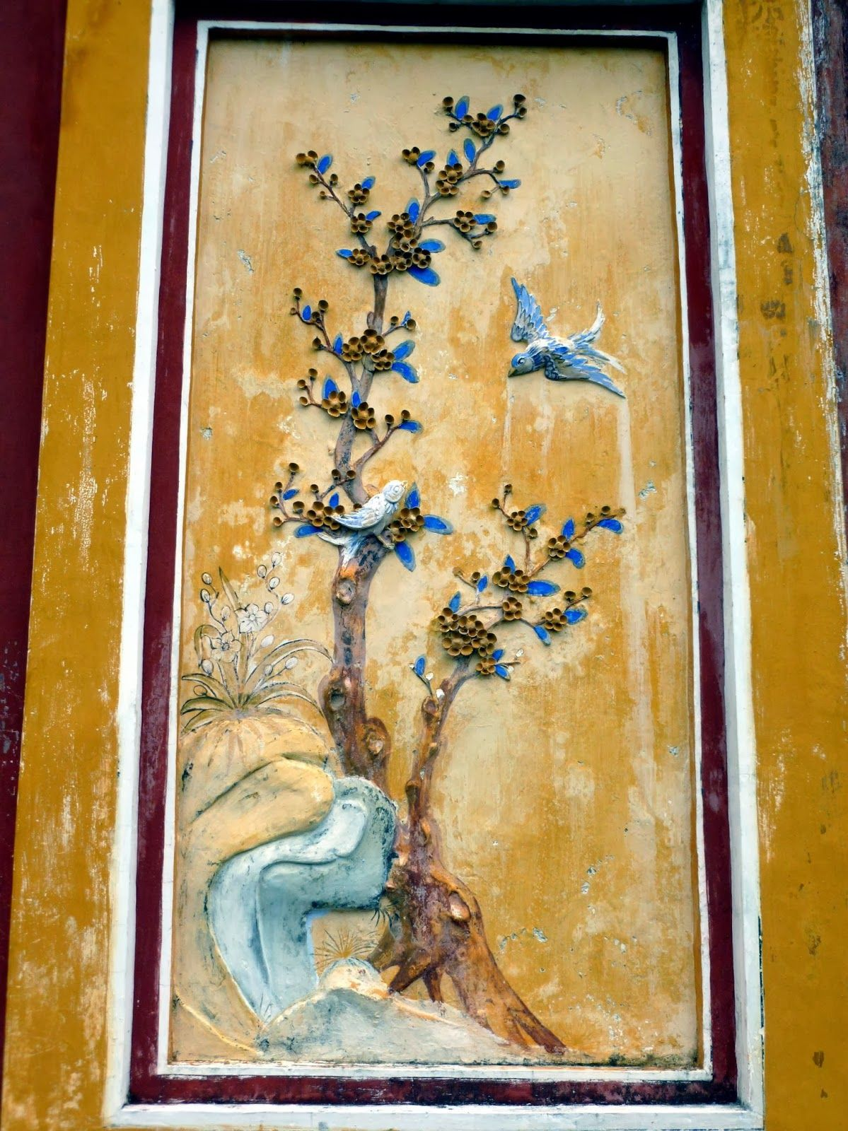 Mural painting, Hue Citadel, Vietnam | A Solo Blonde\'s Asian Odyssey ...