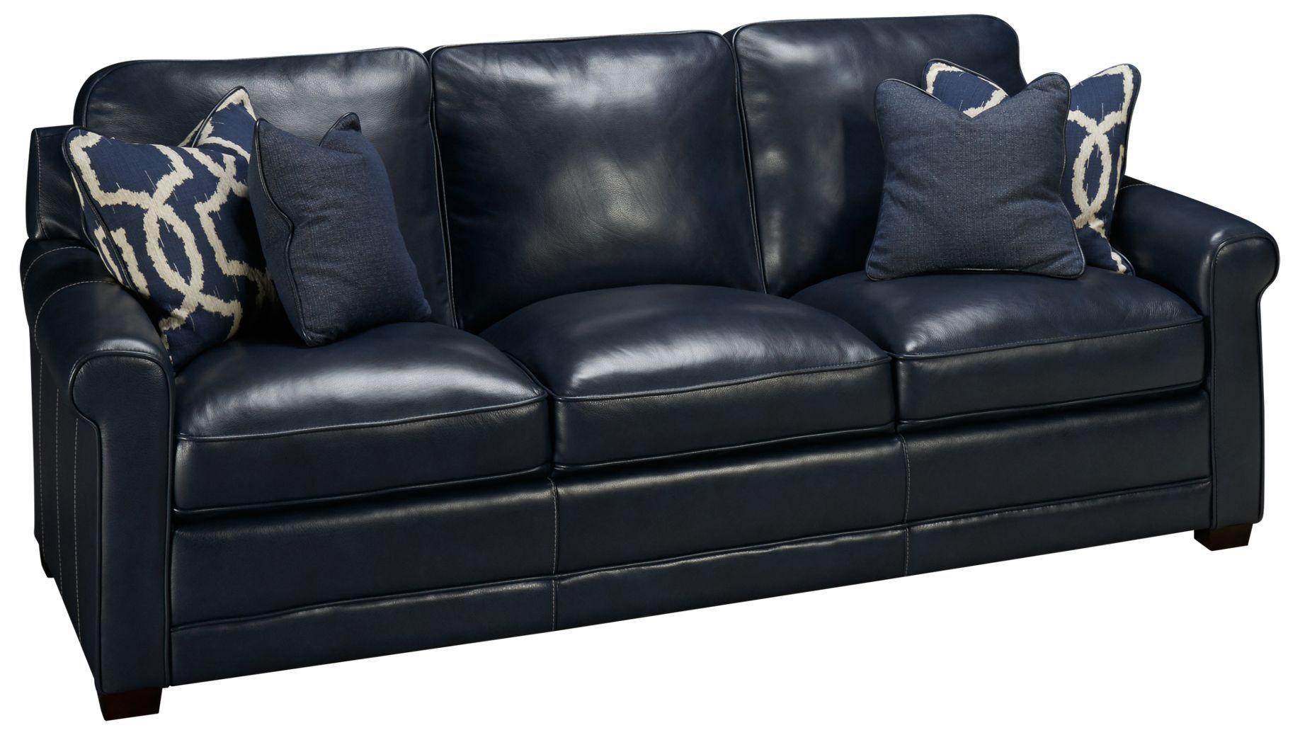 - Simon Li Stampede Leather Sofa Blue Leather Sofa, Leather Sofa