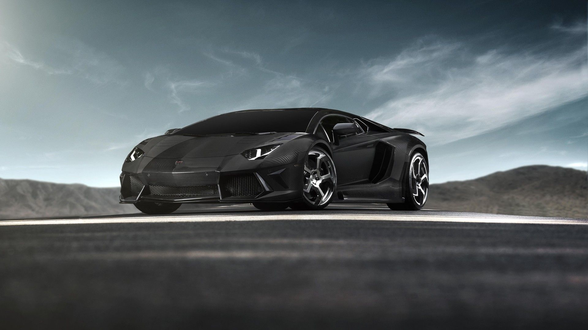 lamborghini sports cars black and white