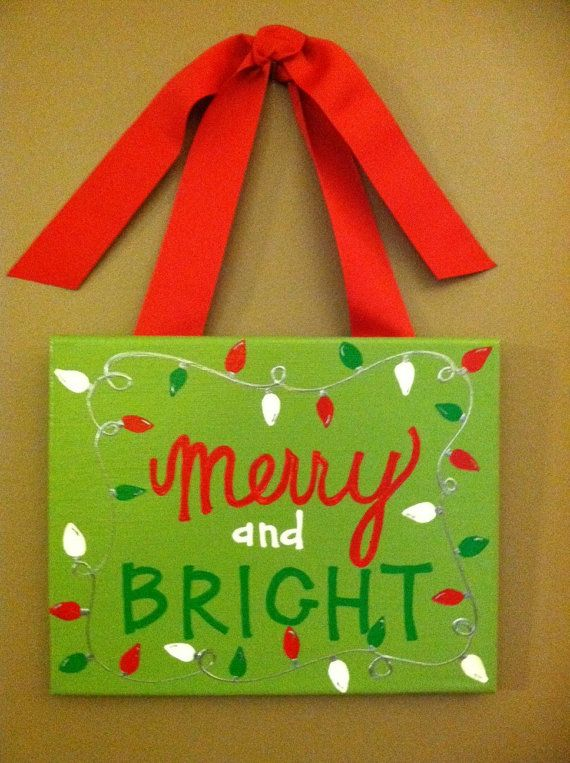 incredible Cute Christmas Canvas Paintings Part - 8: Cute little christmas canvas.