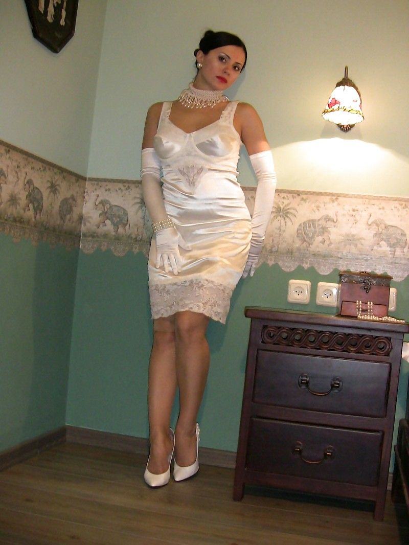 Spunk over satin slips photos #14