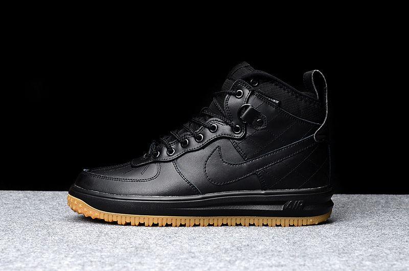 outlet store 859d8 ccfc7 2018 Official Nike Air Force 1 AF1 Platypus Black Noir Youth Big Boys Shoes