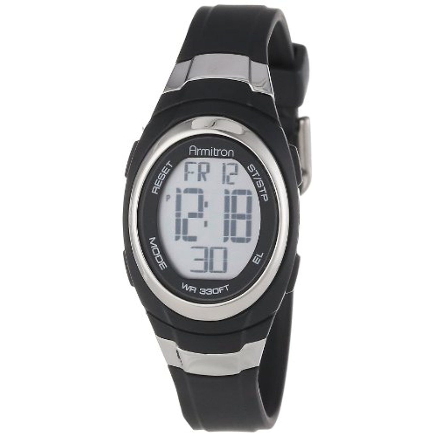 Sport Unisex 45 7034blk Stainless Steel Accented Black Resin Strap Chronograph Digital Watch To View Further For This Ite Armitron Amazon Watches Chronograph