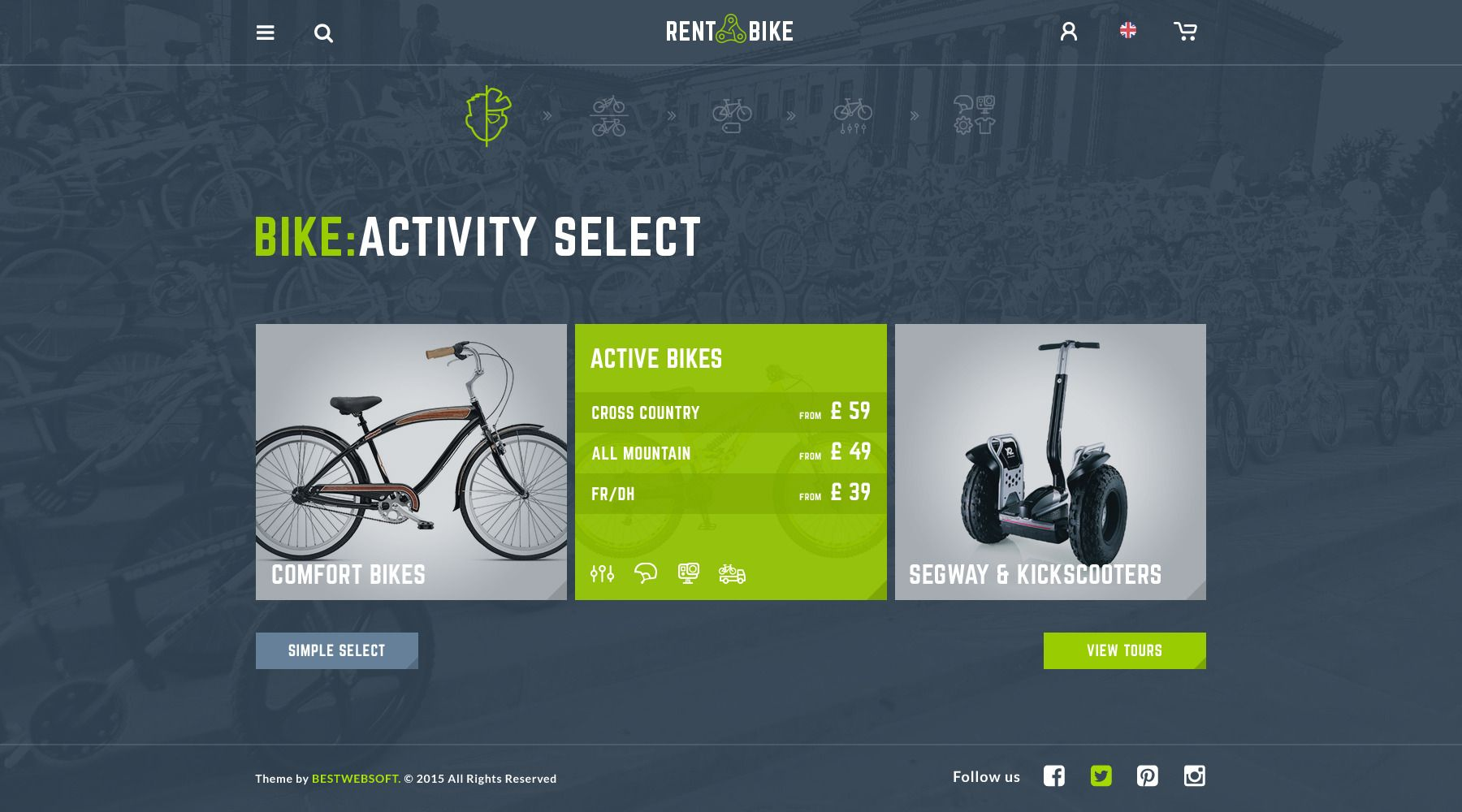 Rent A Bike Rental Booking Psd Template Psd Templates Bike