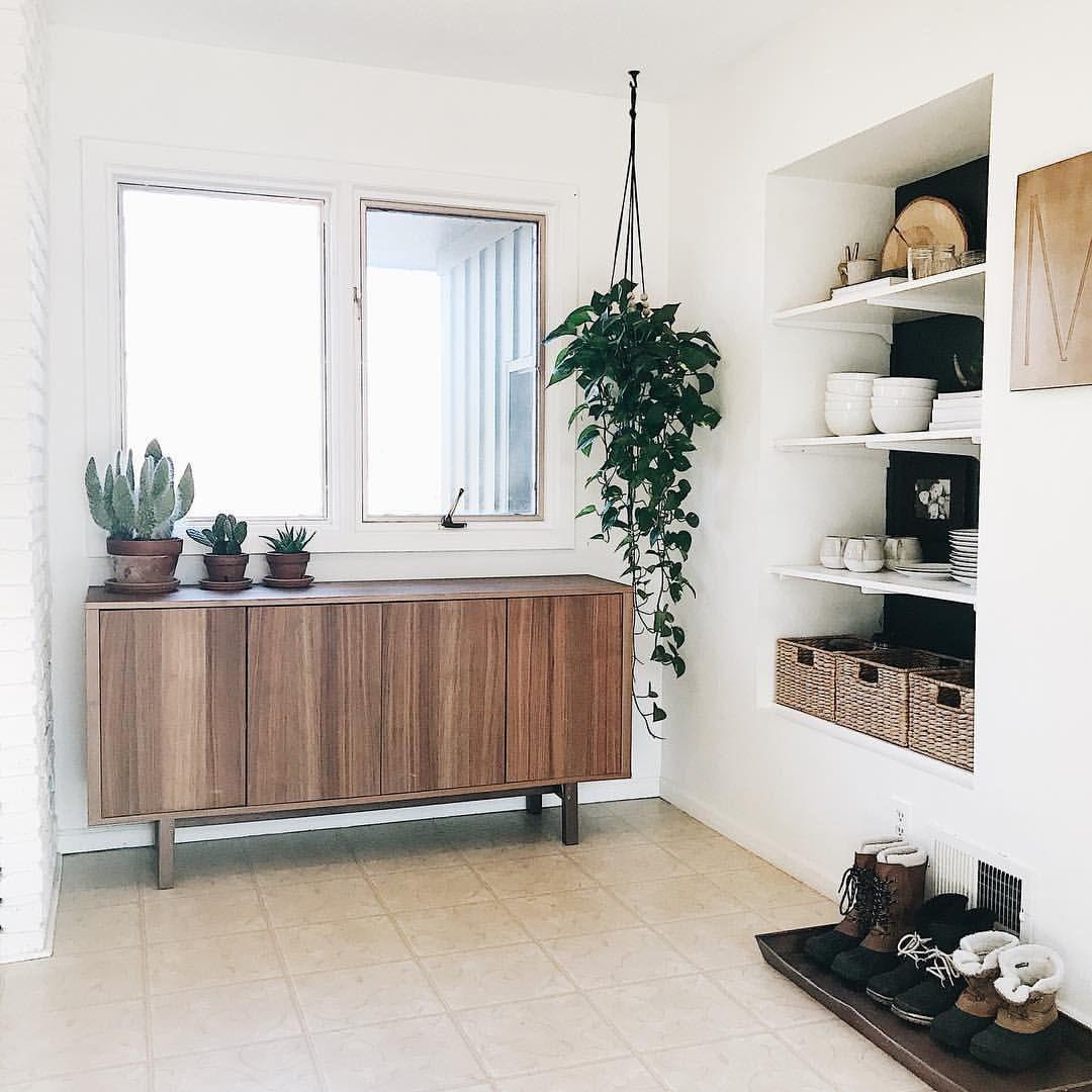 Midcentury modern, bohemian, boho, cactus, hanging planter, open ...