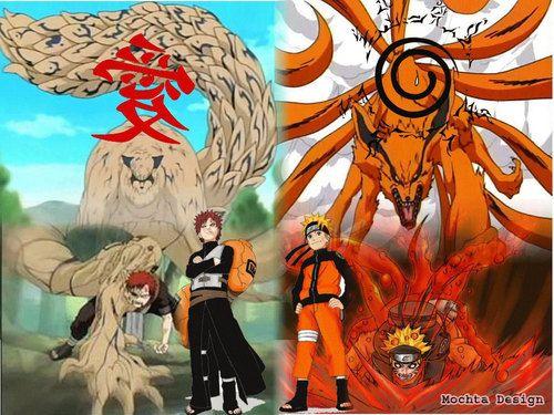Naruto Shippuuden Fan Art: gaara and naruto