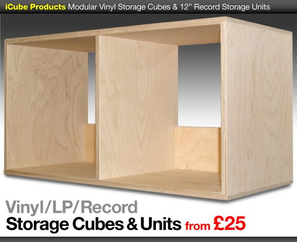 Vinyl Storage Cubes Modular Lp Units 12 Record Boxes Dj Furniture Cube Storage Vinyl Storage Record Storage Units