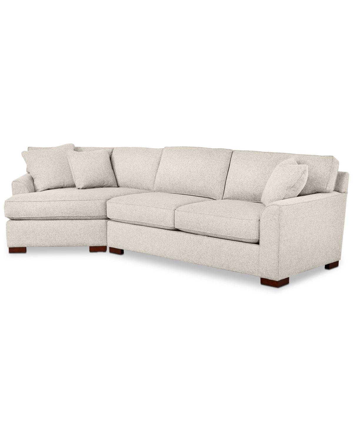 Carena 2 Pc Fabric Sectional Sofa With Cuddler Chaise Custom Colors Created For Macy S Triumph Sand Beige Special Order Sectional Sofa Fabric Sectional Sofa