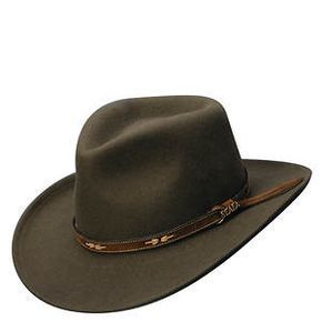 e34d5544f60 Scala Classico Men s Crushable Outback SW Band Hat. Scala Classico Men s  Crushable Outback SW Band Hat Cowboy Hat Bands