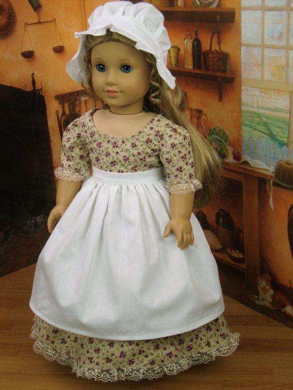 18 Zoll historische Puppe Kleidung Colonial von HoschPoschCreations ...