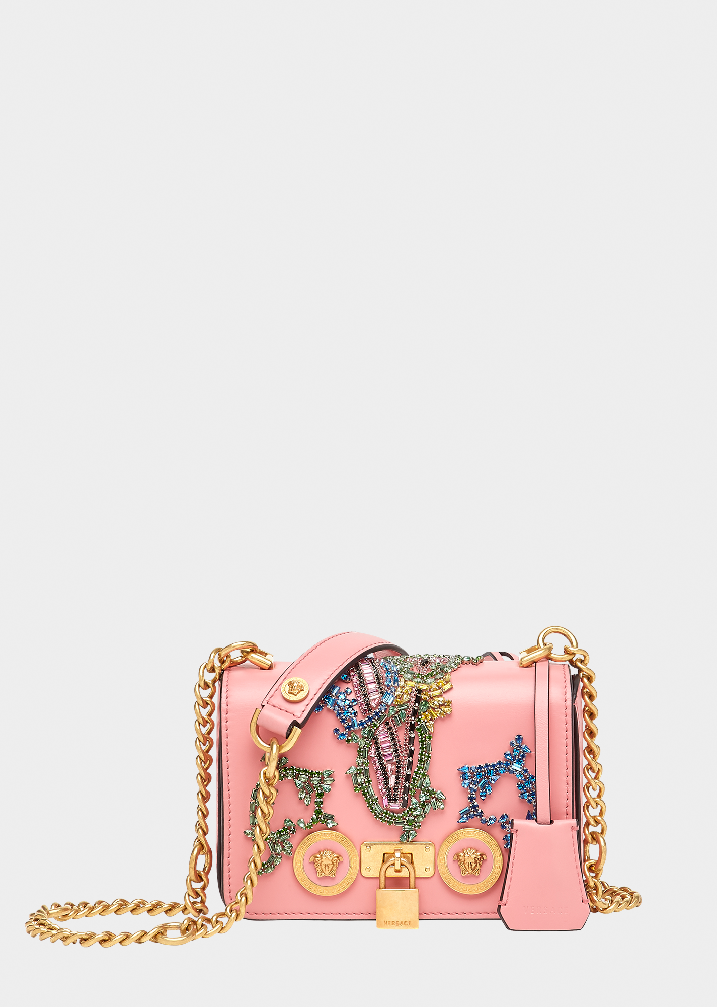 VERSACE Small Alphabet Patch Icon Bag.  versace  bags  shoulder bags   leather  lining 6081d155bb6bc