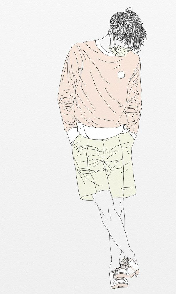 Line Art Kpop : Tumblr kpop lineart pastle kim jongin exo