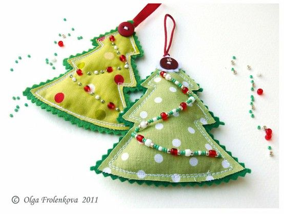 pininteeest sewing crafts  Christmas Trees on Pinterest  And Sew