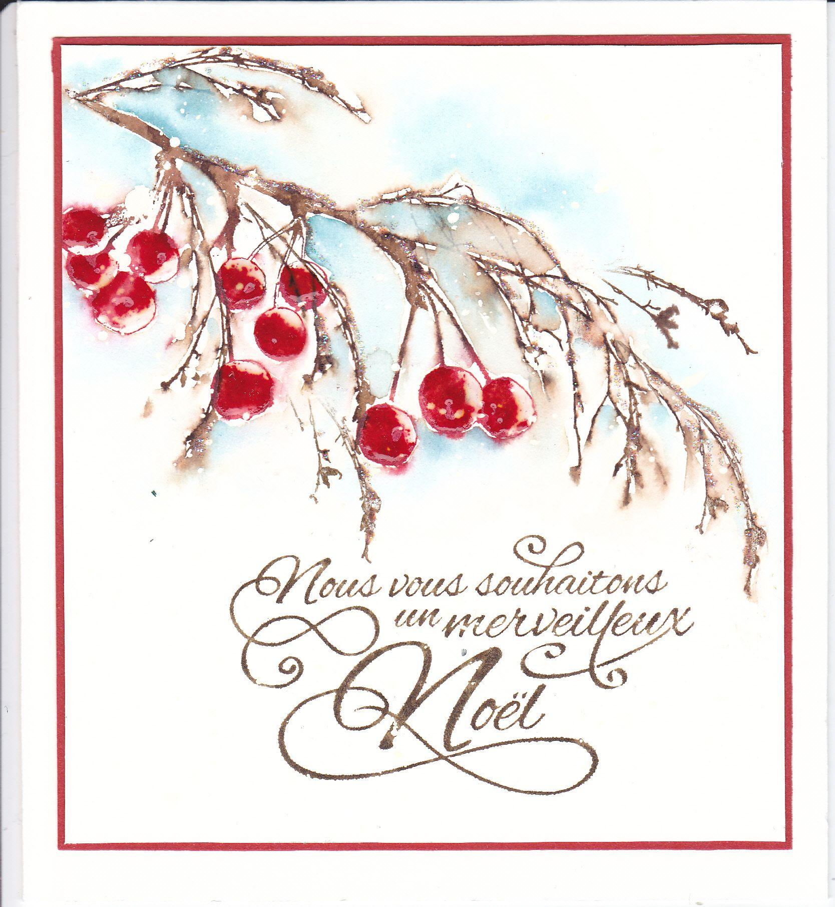 Baies De Noel 2 Watercolor Christmas Cards Penny Black Cards