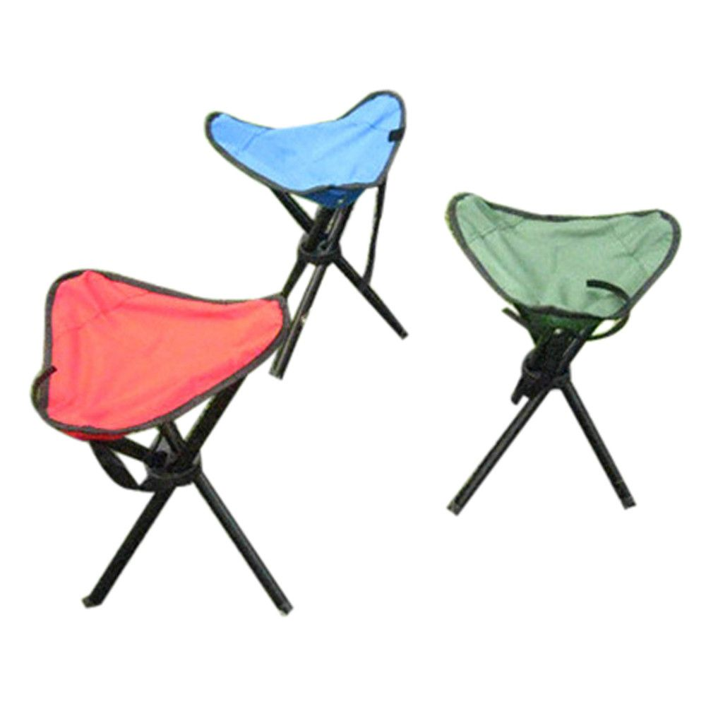 Camping Folding Stool Portable 3 Legs Chair Tripod Seat Outdoor Oxford  Cloth SEP12 Tag A Friend