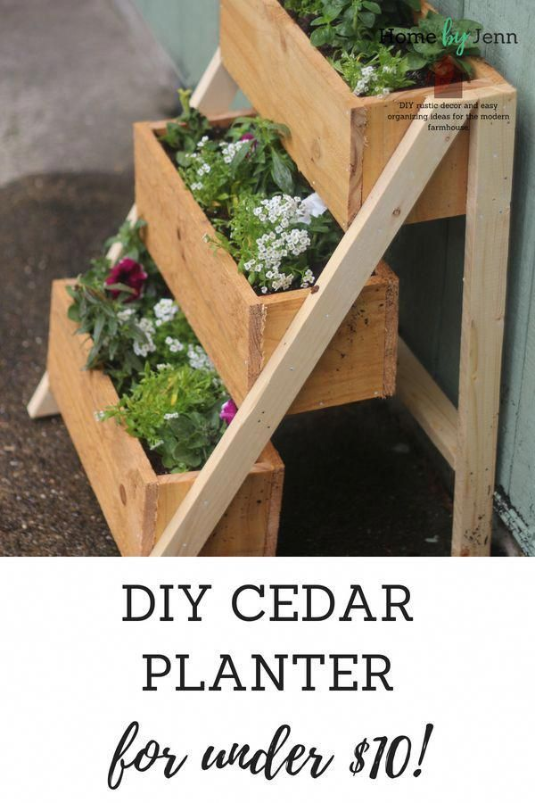 How To Build A Cedar Planter Box is part of Diy garden projects, Diy planters, Cedar planter box, Diy planter box, Cedar planters, Planter boxes - Improve curb appeal by building a DIY cedar planter box  Get the plans for building a cedar planter box and build this easy wooden flower box