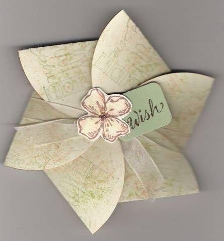 Flat Flower Box Fancy Fold Cards Cards Handmade Flower Cards
