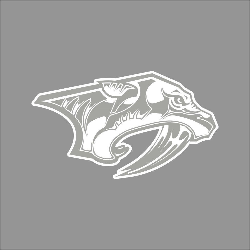 details about nashville predators 6 nhl team logo 1color on wall logo decal id=78839