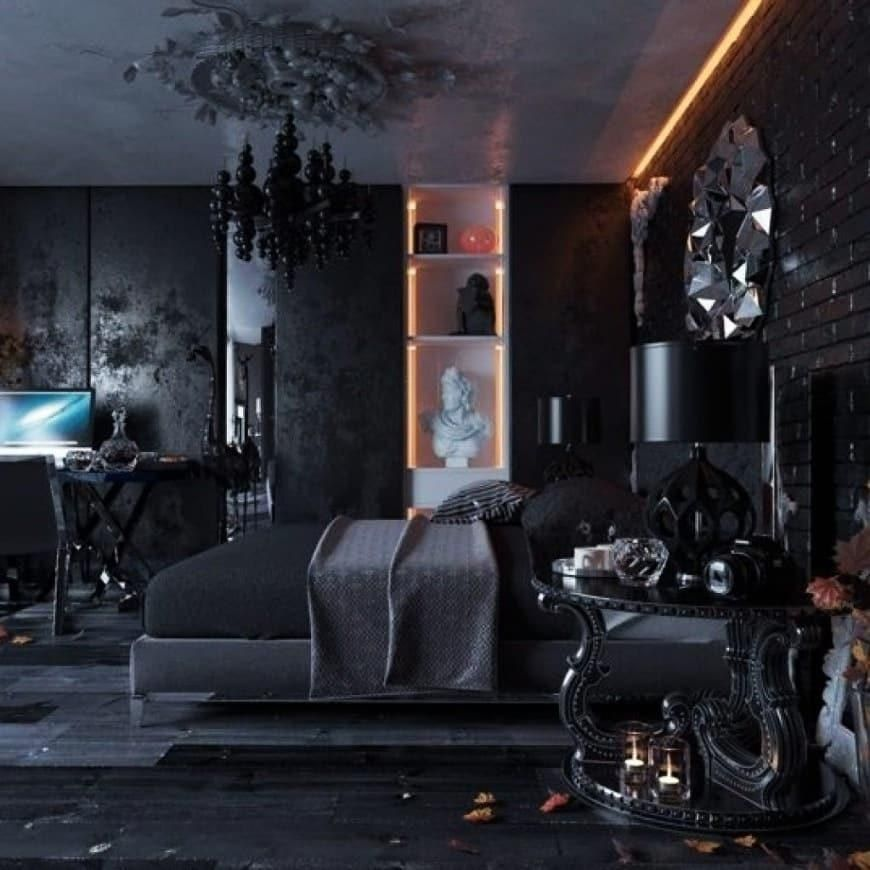 52 dark themed interiors  black and white rooms that make