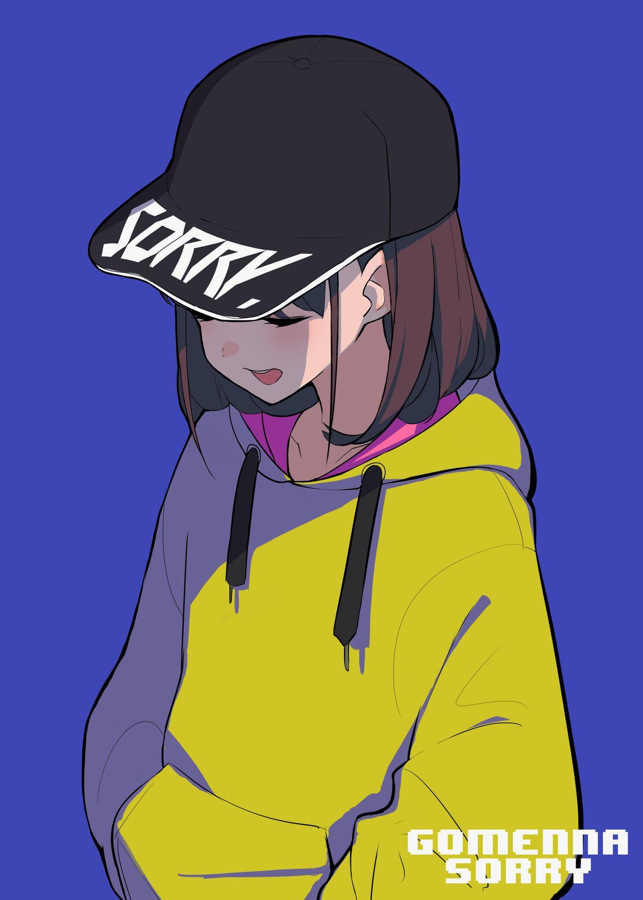 "famysiraso ""Gomenna Sorry cap. "" Anime art girl, Tomboy art"