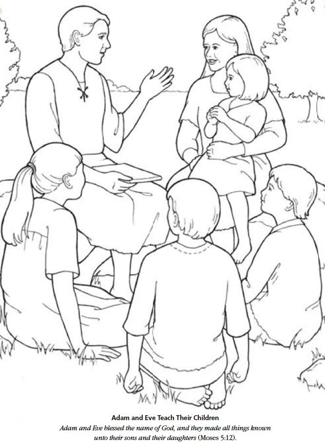 LDS Games - Color Time - Adam and Eve Teach Their Children ...