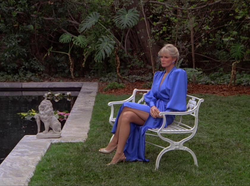 Silk Blue Dress Lily Pond Catfight Season 3 Dynasty 1980 S In