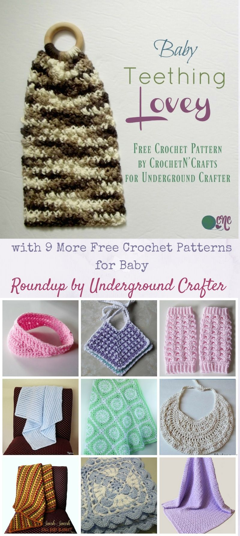 Free crochet pattern: Baby Teething Lovey by CrochetN\'Crafts for ...