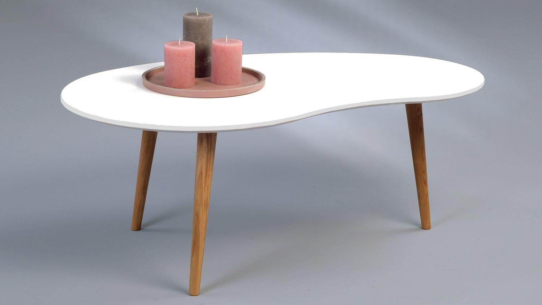 Couchtisch luca wei lackiert nierenform beine wildeiche skandinavisch einrichten couchtisch - Tisch skandinavisch ...