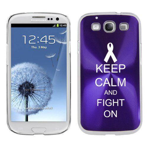 Purple Samsung Galaxy S III S3 Aluminum Plated Hard Back Case Cover K97 Keep Calm and Fight On Awareness Ribbon by MIP, http://www.amazon.com/dp/B008KOYD0Q/ref=cm_sw_r_pi_dp_XUtjqb0XJK012