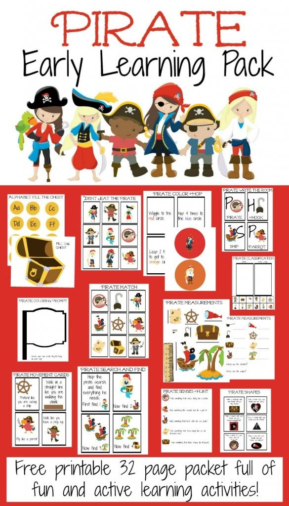 FREE* Pirate Early Learning Pack | PreK | Pinterest | Pirat, Basteln ...