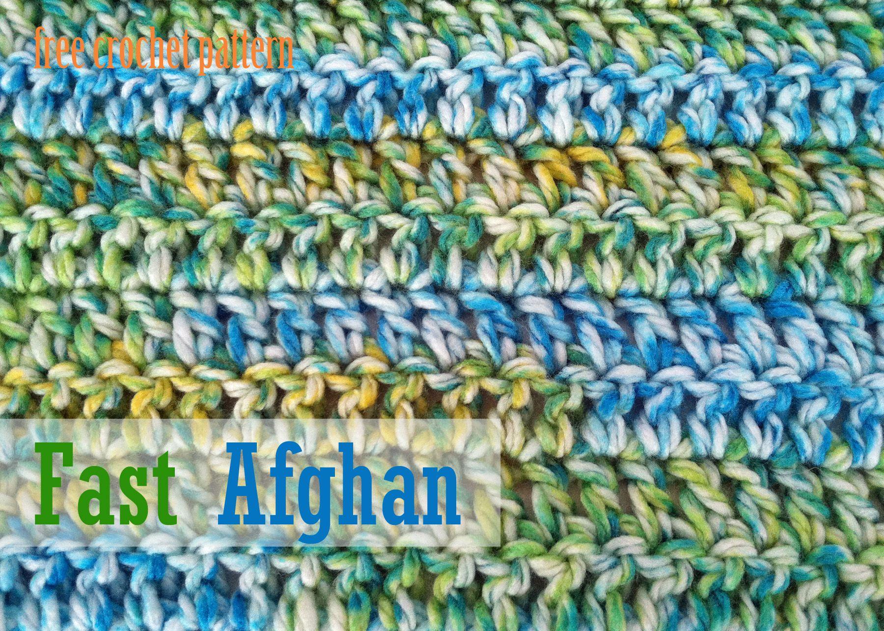 Free Crochet Pattern - Fast Afghan | Crochet/Knit Patterns ...