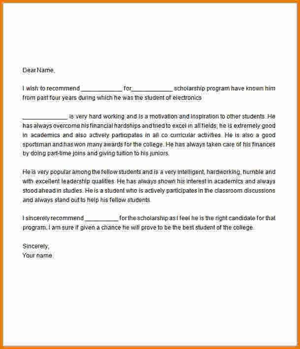 Letter Of Recommendation For Scholarship template Pinterest - college recommendation letters