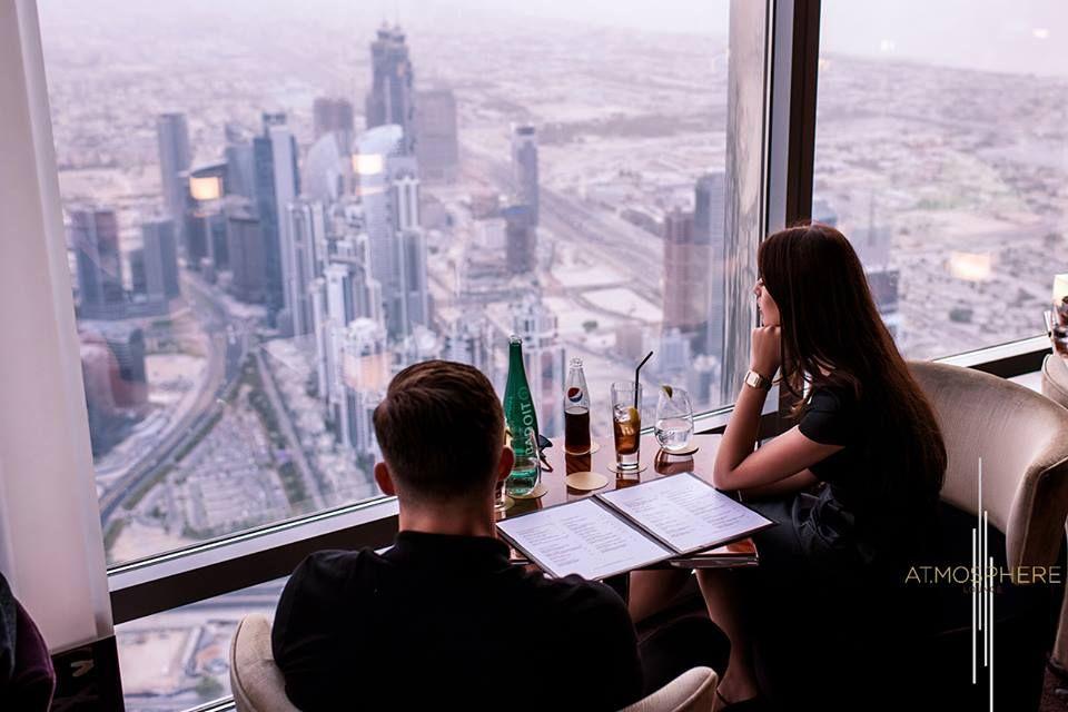 صور أتموسفير برج خليفة أعلى مطعم في العالم New Recipes Restaurant