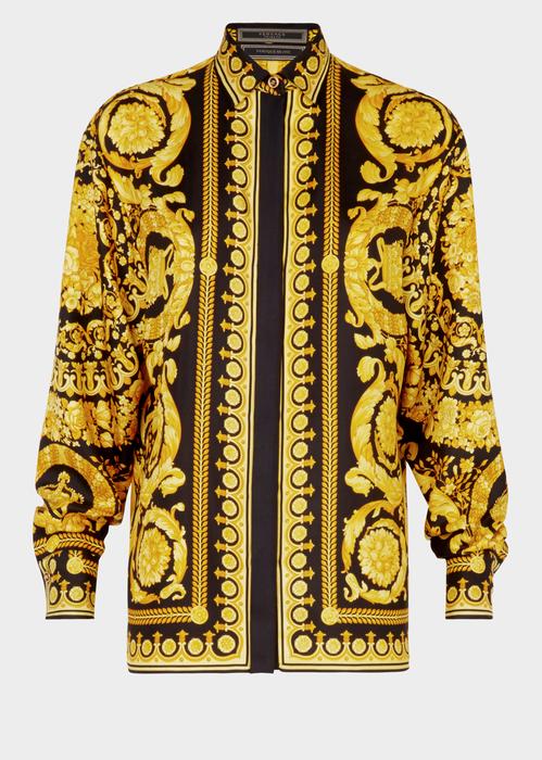4ebc3593450 Versace Barocco FW 91 Print Silk Shirt for Women