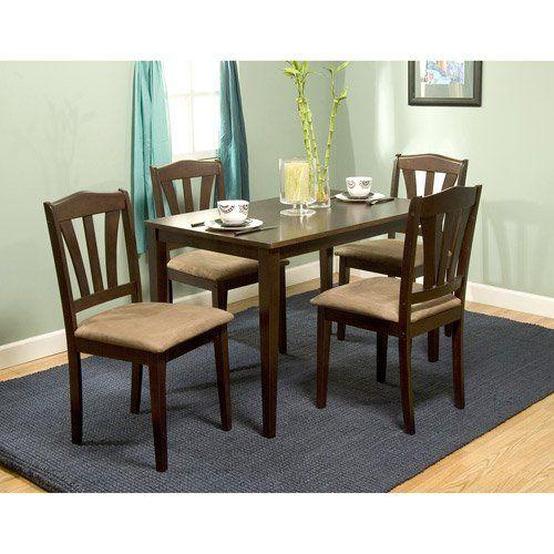 Metropolitan 6-Piece Dining Set with Bench, Espresso ...