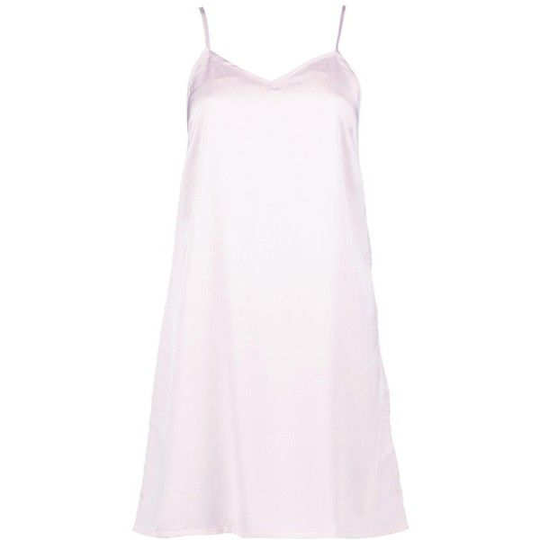 Boohoo Maisie Satin Strappy Mini Slip Dress | Boohoo (€18) ❤ liked on Polyvore featuring dresses, evening dresses, white mini dress, mini dress, satin slip dress and bodycon dress