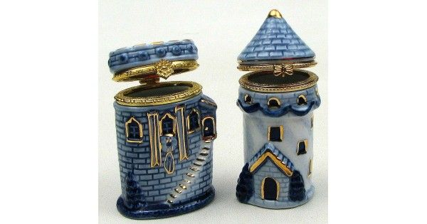 #tosimplyshop Blue Porcelain Castle Trinket Boxes in Two Styles #gifts #homedecor #gardendecor #decor #home #garden #shopping