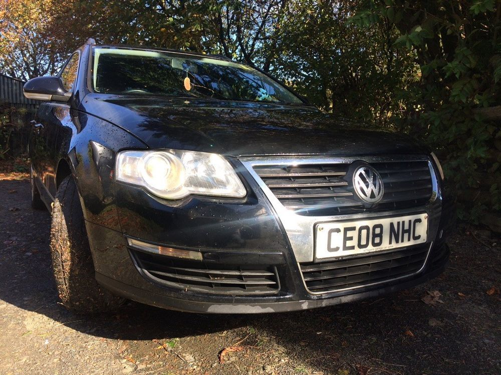 Ebay 2008 Vw Black Passat Estate 1 9 Tdi V5 Export Spares Repair