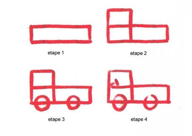 Apprendre dessiner un camion dessins simples moyens de transport pinterest dessin - Dessin tracteur facile ...