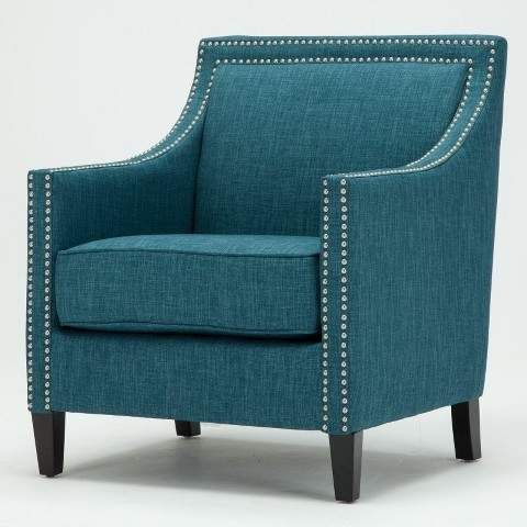 Best Comfort Pointe Taslo Teal Accent Chair In Blue Accent 400 x 300