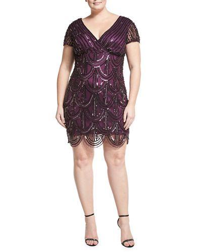 TRMFU Marina Plus Embellished Fish-Scale Dress, Plus Size ...