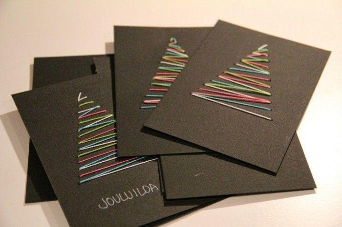 Weihnachtskarten basteln - 44 einfache und kreative DIY Ideen #cartedenoelenfant