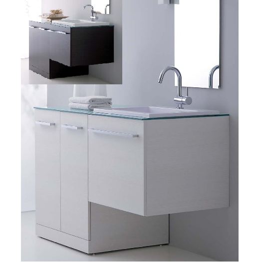 mobile bagno vip, mobile moderno con coprilavatrice mc | home ... - Lavabo Con Mobiletto Per Bagno