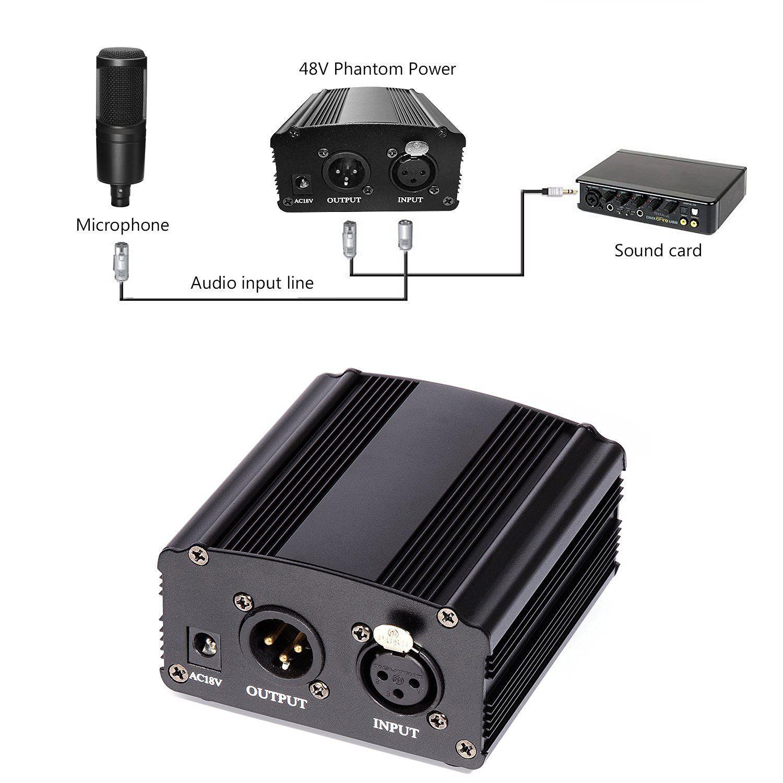 1 Donner Phantom Power Supply 48V 1- Channel for Condenser
