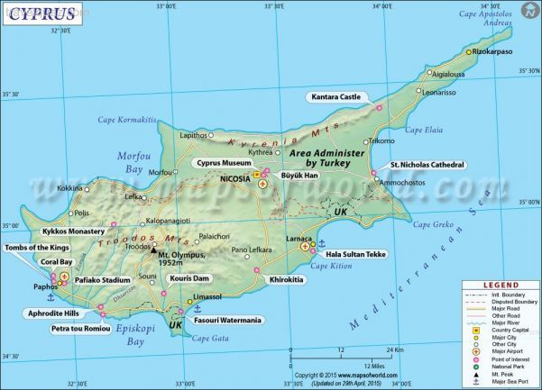 Awesome cyprus map pinterest cyprus and city awesome cyprus map gumiabroncs Images