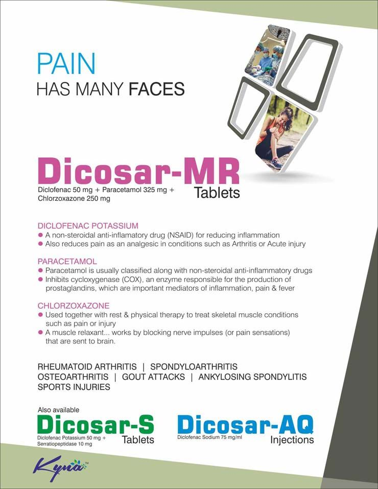 Dicosar Mr Tablets For Different Types Of Pains  Pharma