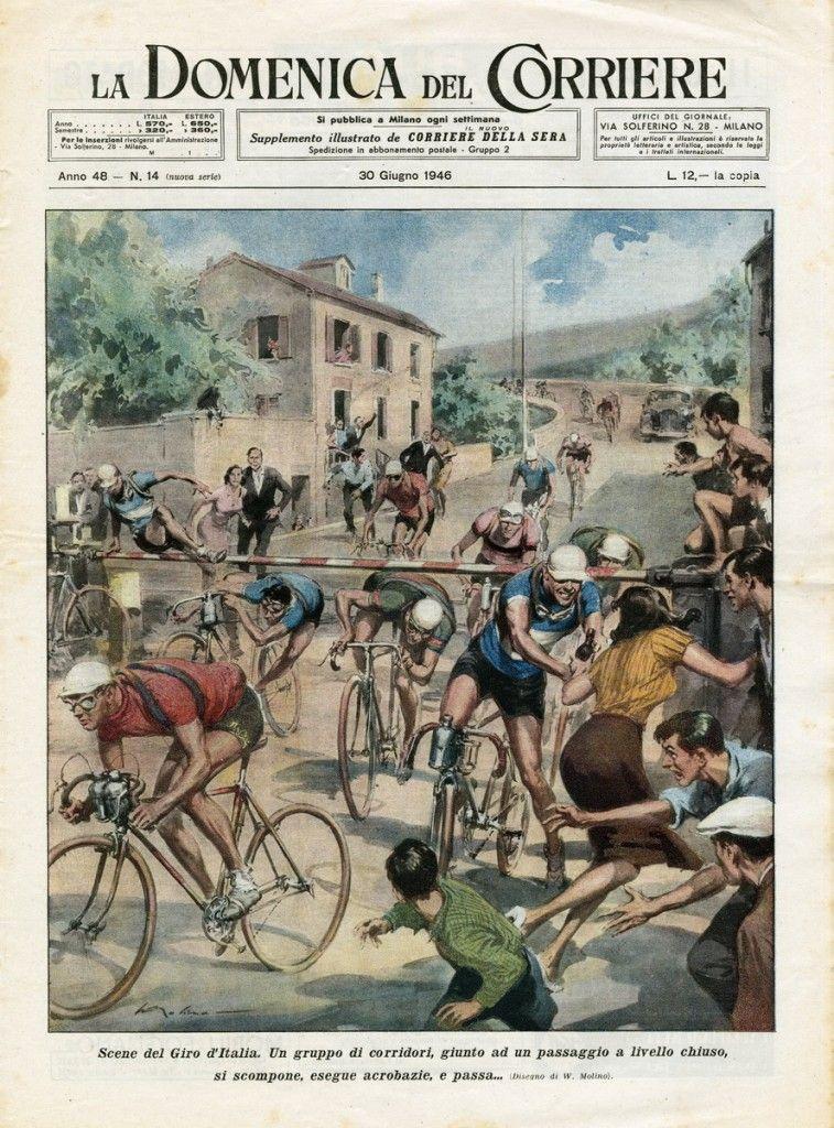 1946年のジロが1面トップの新聞:1946 Giro d'Italia Newspaper