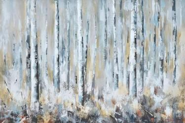 Winter Forest Oil Painting
